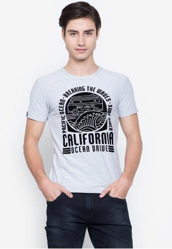 BNY multi Stripes Graphic T-Shirt EC065AA1521E48GS_1