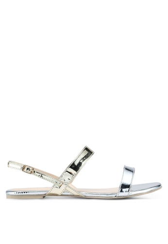 OVS 白色 and 金色 Sandals With Shiny Straps On The Upper 897F9SH07A5BE9GS_1