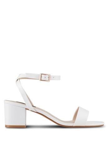 ZALORA white Ankle Strap Mid Heels AD6D6SH851EA92GS_1