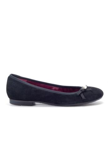Shu Talk 黑色 串珠配飾平底真皮皮鞋 SH544SH0A2QQTW_1
