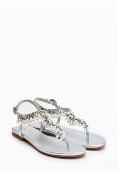 cf84b653c806 PAZZION Embellished Tstrap Sandals RM 279.00. Available in several sizes