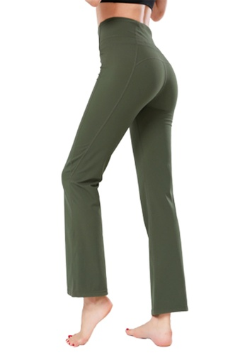 B-Code green ZYG3087-Lady Quick Drying Running Fitness Yoga Sports Leggings -Green F9C62AA86F1FC7GS_1