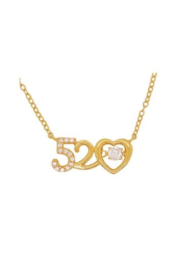 LITZ gold LITZ 916 (22K) Cubic Zirconia Gold Necklace GC110 F5D9EAC06B841EGS_1