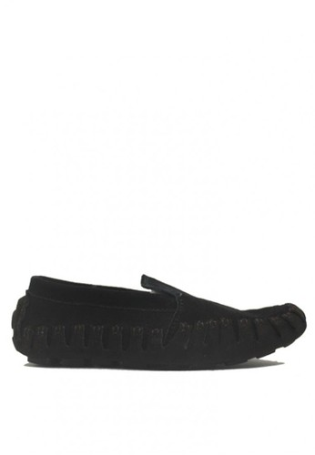 D-Island black and brown D-Island Shoes Slip On Moccasin Genuine Leather Black DI594SH56KNZID_1