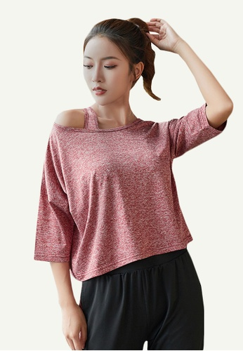 B-Code red ZYG5125-Lady Quick Drying Running Fitness Yoga Sports Casual Top-Red A8AFEAAF7BF335GS_1