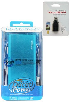 ​MSM.HK DUCATI iPower 12000mAh Power Bank With FREE Micro USB OTG