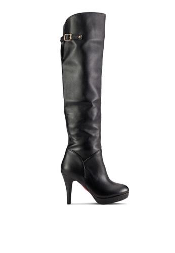 Sunnydaysweety black Classic High Heel Long Boots SU527SH63ISQMY_1