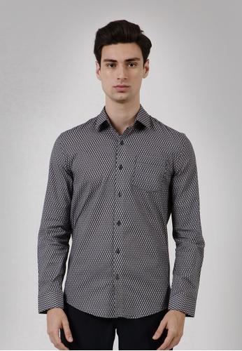 The Executive black Argyle Slim Shirt D44C8AA9F90F09GS_1