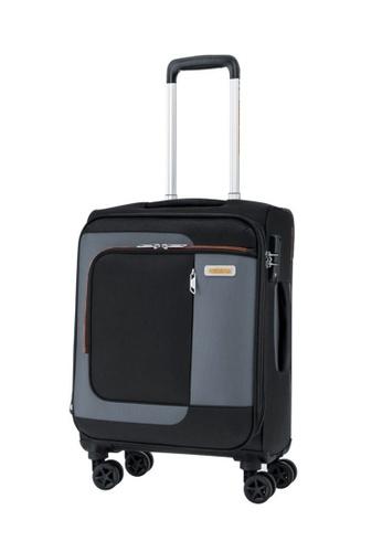 American Tourister black American Tourister Sens Spinner 55/20 EXP TSA Luggage 9C4D2AC3F95989GS_1