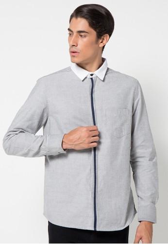 DocDenim grey Men Shirt Morocco 3E895AA72A5145GS_1