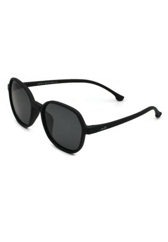 jojo black Square Slim Temple Polarized Sunglasses 0FCD7KC0BFF27CGS_1