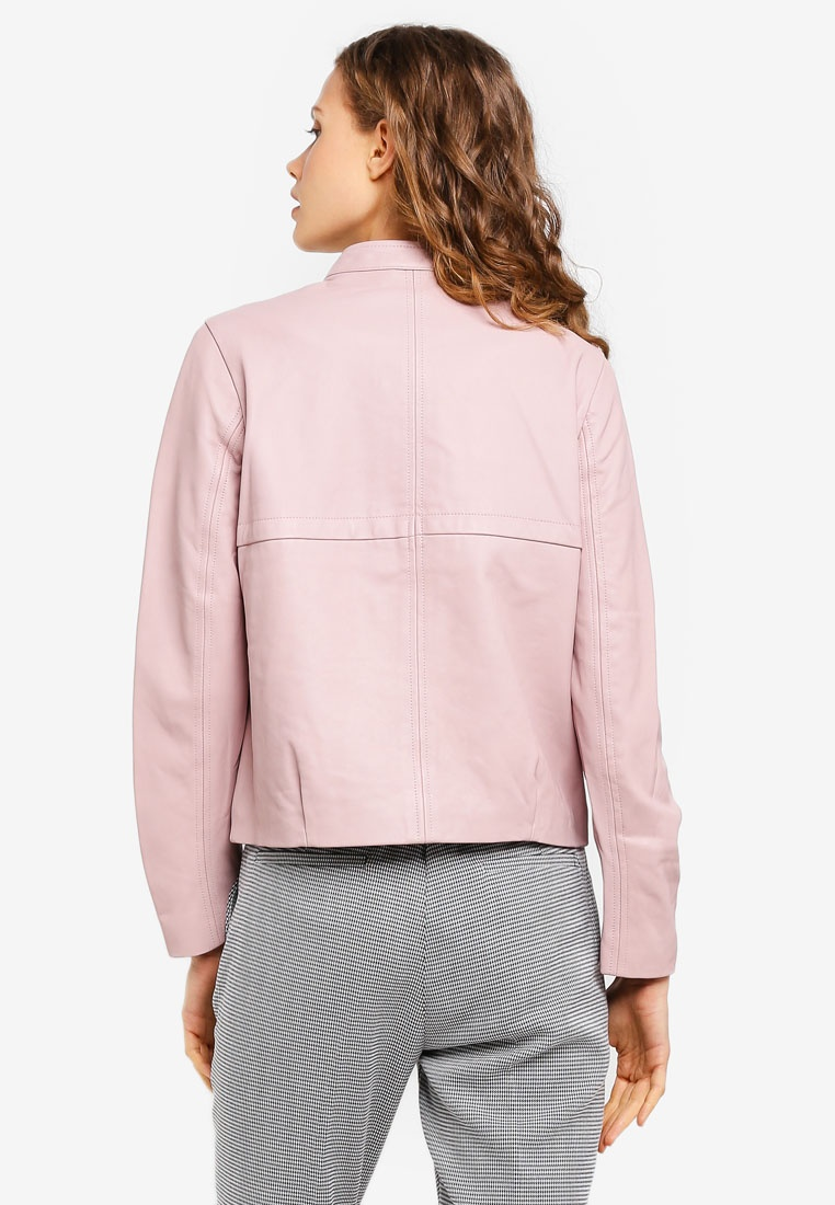 Pink Jacket Pastel Leather Outdoor Short ESPRIT qzTXUX