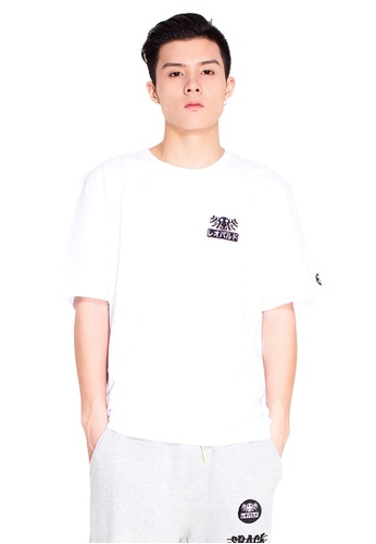 """Reoparudo white RPD Reflective """"3M"""" FACE Print Tee (White) RE413AA0F4BASG_1"""
