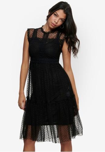 JACQUELINE DE YONG black Line Sleeveless Dress 969DEAA20AD16AGS_1