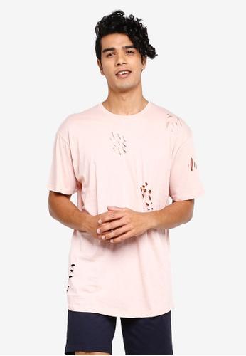 Brave Soul 粉紅色 圓領T恤 CFE47AA7484C43GS_1