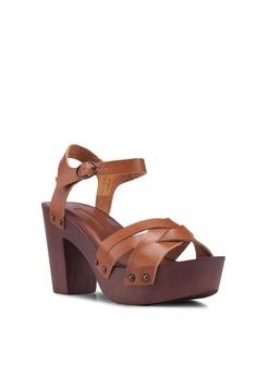 5f95118e19 20% OFF Dorothy Perkins Tan Sequoia 70S Clog Heels HK$ 460.00 NOW HK$  367.90 Sizes 3 4 5 6 7