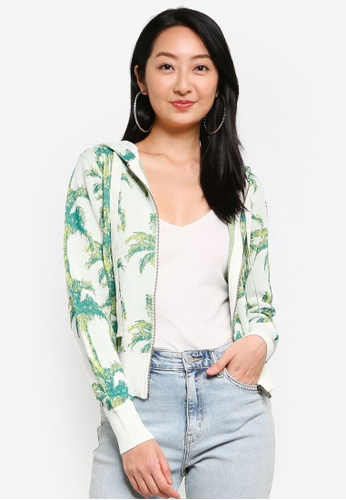 Desigual green Tropical Hooded Sweatshirt B224CAA9BD1A25GS_1