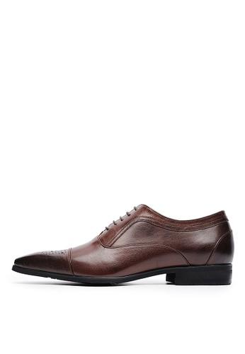 MIT義式雋永。頂級打蠟牛皮商務皮鞋-04714esprit台灣官網-咖色, 鞋, 皮鞋