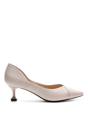 Twenty Eight Shoes 5CM 尖頭仿羊皮中踭鞋 6208-3 FF8E9SHBF8F15AGS_1