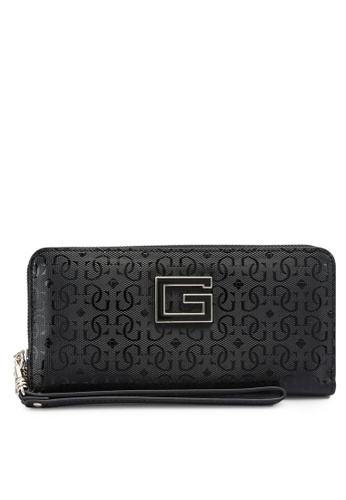 GUESS black Blane Large Zip Around Wallet AB8A2AC60A34BEGS_1