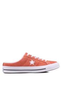 b288590cf3d5 Converse black and orange One Star Mule Sneakers 0A5FBSHBD02769GS 1