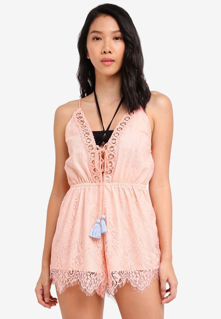 Playsuit Coral Lace Cami Island River Uqfwtt