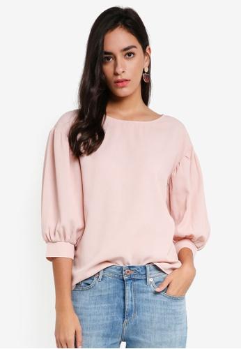 Vero Moda pink Daisy 3/4 Top D1362AA40B3173GS_1