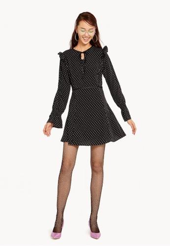 Pomelo black and white and multi Stacia Polka Dot Dress 3A566AA9C72204GS_1
