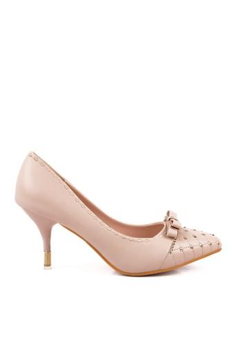 CLARETTE beige Clarette Heels Gwyneth Beige CL076SH83QMMID_1
