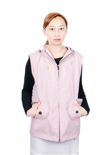 East Pole pink Women's 10 Pockets Travel Vest Windbreaker 46F5AAACE68884GS_1
