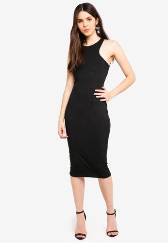 MISSGUIDED 黑色 羅紋緊身洋裝 17B3EAADE55F35GS_1