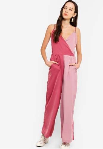 71c949010cb3 Something Borrowed pink Contrast Panel Cami Jumpsuit 8A2FDAA232E9A6GS 1