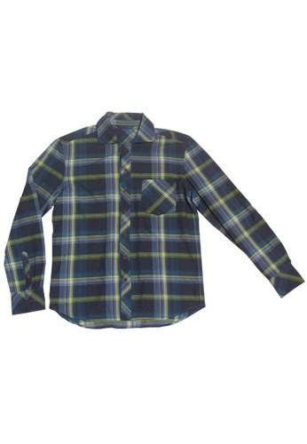 大zalora 包包評價格紋翻領襯衫, 服飾, 格紋襯衫