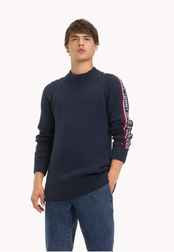 6100fed77 Buy Tommy Jeans TJM TOMMY TAPE SWEATER Online on ZALORA Singapore