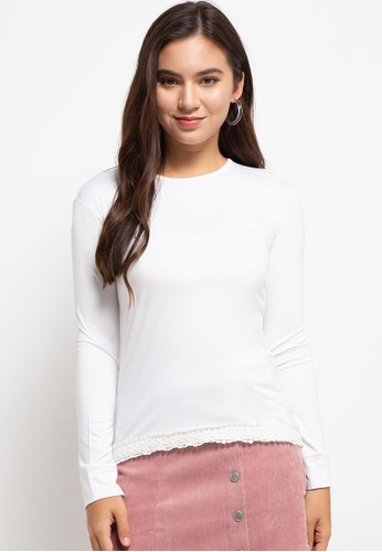LOLINI white Egypt Long Sleeve Knit D5FC2AAE5C391EGS_1
