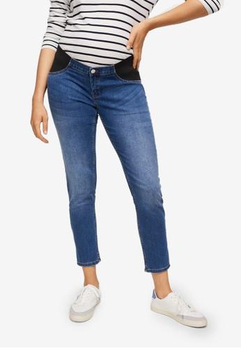 Mango blue Maternity Mid-Rise Jeans 66790AA40AE1EBGS_1