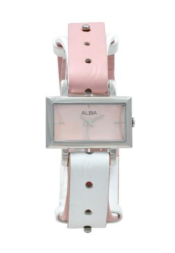 Alba white and pink ALBA Jam Tangan Wanita - Pink White Silver - Stainless Steel - AC3S59 8F2CFAC00C0151GS_1