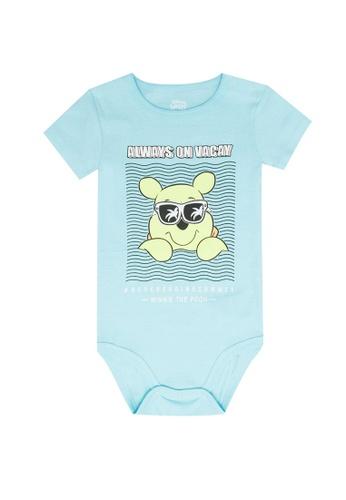 FOX Kids & Baby blue Short Sleeve Bodysuit 6A499KA1A688D4GS_1