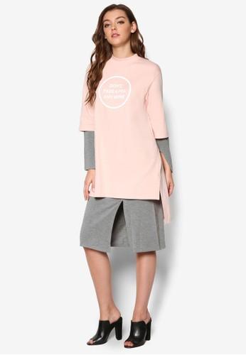 韓式風格文字訊息不zalora 包包 ptt對稱連身裙, 服飾, 洋裝