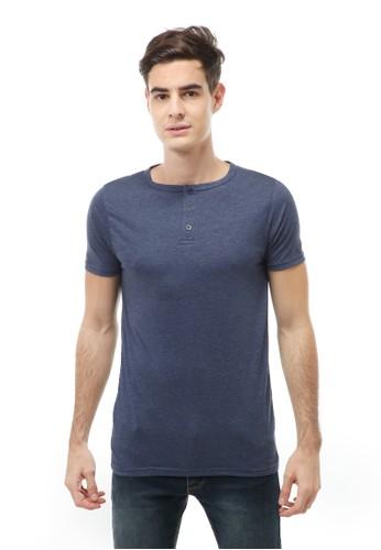 Hamlin blue Jack T-Shirt Atasan Kasual Kaos Polos Pria Model Kancing Lengan Pendek Material Cotton ORIGINAL - Navy 9FD43AA226B00EGS_1