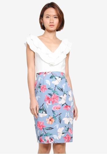 Paper Dolls multi Cream Ruffle 2 In 1 Printed Skirt Dress A3FACAA8BFAEAEGS_1