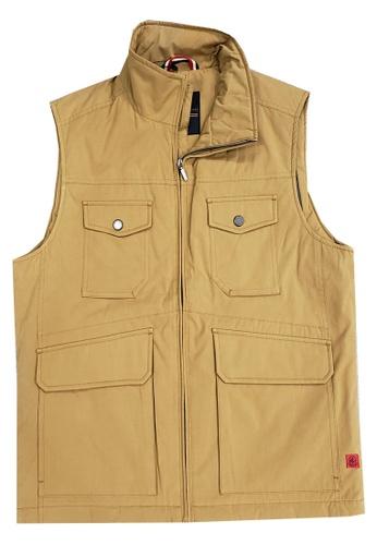 East Pole yellow Men's Outdoor 4 Pockets Autumn Winter Gilet E52F9AA03F4FBEGS_1