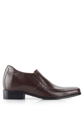 Keeve brown Keeve Shoes Peninggi Badan Formal 099- Coklat  5AB60SH021503CGS_1