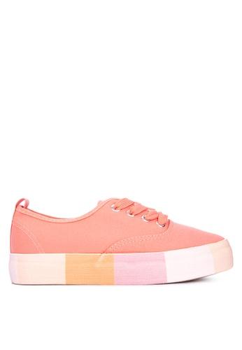 BENCH orange Lace Up Canvas Sneakers 561A3SH57D1E61GS_1