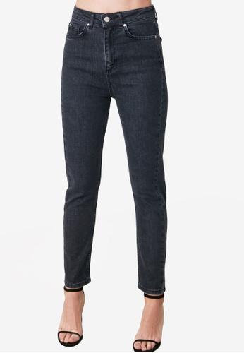Trendyol grey High Waist Slim Fit Jeans 95315AAD2DBBB4GS_1