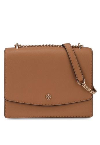 TORY BURCH brown Emerson Flap Adjustable Shoulder Bag (nt) 1BEEDACFC6CC9EGS_1