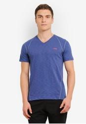 2GO navy V-Neck T-Shirt 2G729AA0S60VMY_1