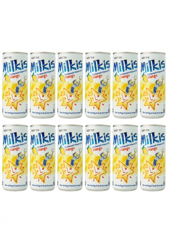 Lotte Chilsung Beverage Lotte Milkis Mango Soda - Multipack (12 x 250ml) 525ADES2BA959CGS_1