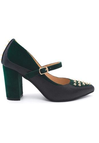 Toufie green Krait Marys 80 High Heel Snake And Leather - Emerald Green BC0BFSHC377DF5GS_1