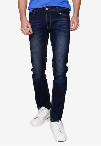 Fidelio blue 430 Slim Fit Washed Denim Jeans 7A4DAAA0B7189DGS_1
